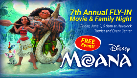Moana Fly-in Movie